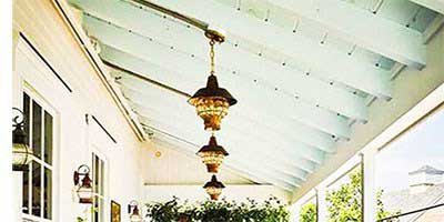 Copper Outdoor Porch Lighting