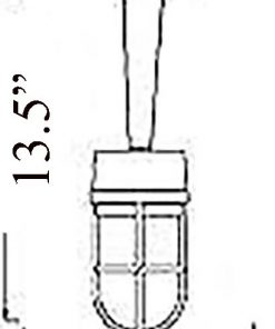 Bulkhead Pendant Light Diagram (B-1ARM)
