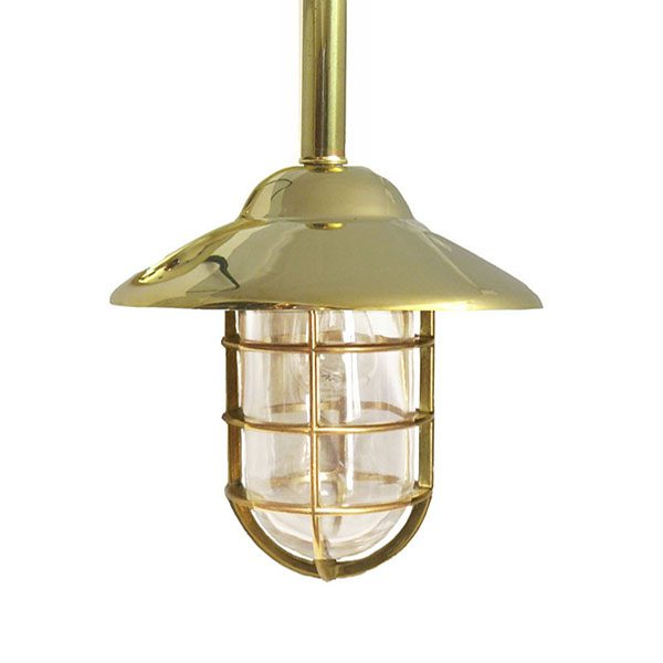 Shiplights Bulkhead Fixed Pendant in Unlacquered Brass (C-3TUB)