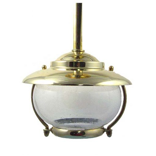 Solid Brass Bubble Glass Light (C-5TUB) by Shiplights