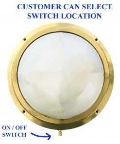 Flush Bulkhead Light with Switch by Shiplights (F-5)