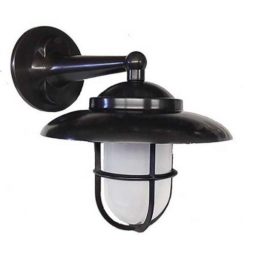 Small Hooded Bulkhead Light in Oil Rubbed Bronze by Shiplights