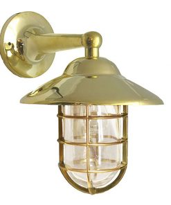 Shiplights Bulkhead Wallmount Sconce in Unlacquered Brass (H-2)