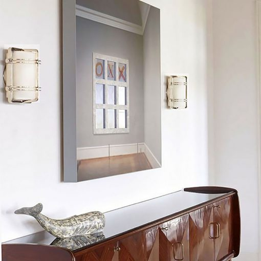 Polished Nickel Modern Wall Sconce