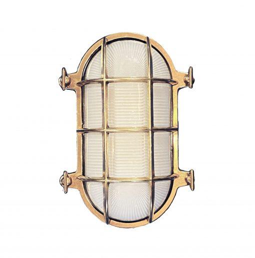 Medium Seabeck Cage Oval Bulkhead Sconce