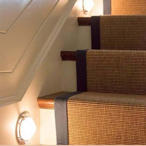 Nautical Stair Lighting from Maine Home Design Magazine