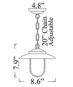 NC-4 Modern Ceiling Pendant Diagram