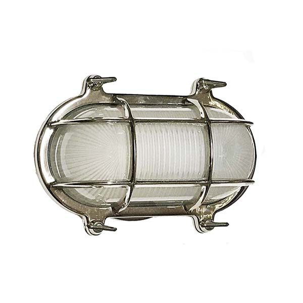 Small Oval Cage Bulkhead Sconce - compare to Davey DWR Oval Cage