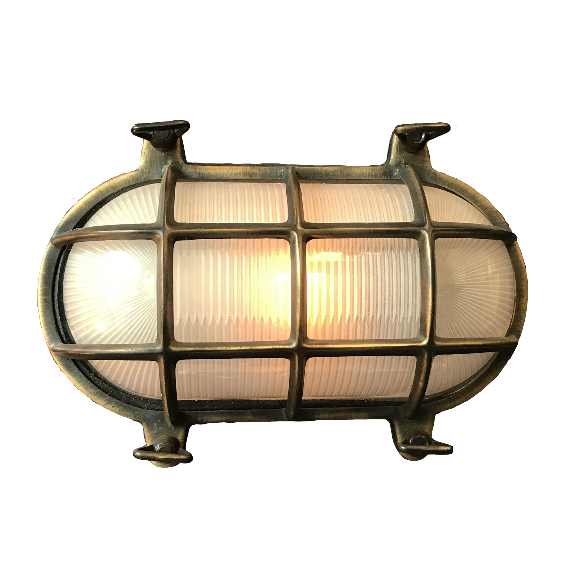 Superb oval polished ship bulk head passageway wall light nautical lamp