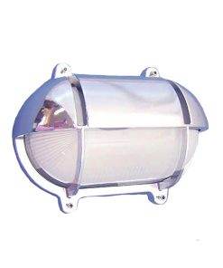 O-6C Chrome Oval Bulkhead Sconce with Eyelid by Shiplights