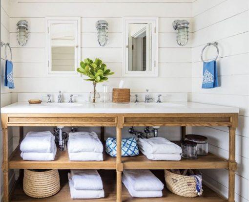 Nautical Bathroom with Bulkhead Sconce