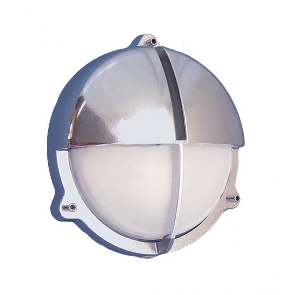 Chrome Round Bulkhead Sconce (R-11C) by Shiplights