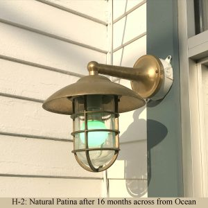 Solid Brass Starboard Sconce with Shade by Shiplights
