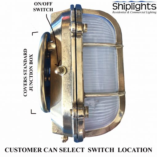 WF-1 Nautical Bunk Light with On Off Switch