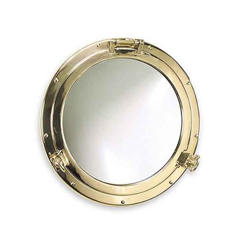 Solid Brass Porthole Mirror
