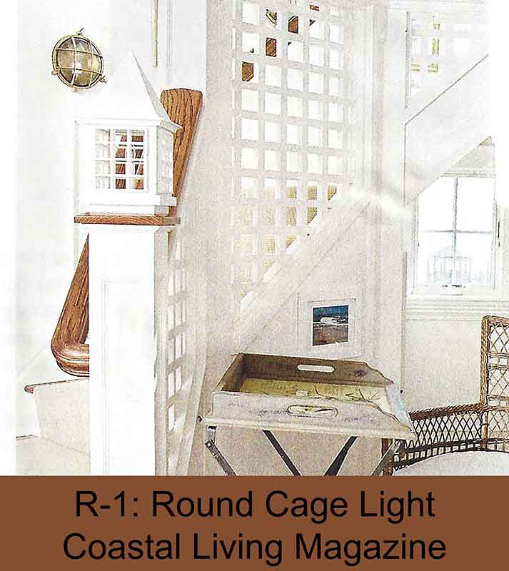 Brass Nautical Stair Light by Shiplights (Coastal Living Magazine)