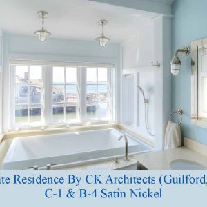 Nautical Satin Nickel Bathroom Lighting by Shiplights