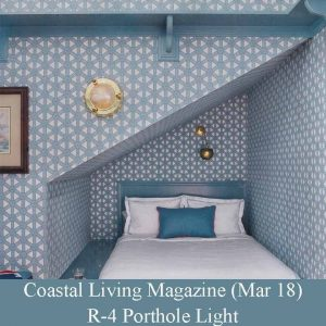 Porhole Brass Light by Amal Kapen in Coastal Living Magazine