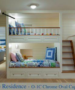 Chrome Contemporary Bedroom Bunk Sconces (O-1) by Shiplights