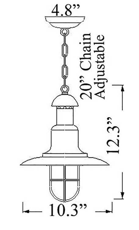 Classical Nautical Pendant Diagram by Shiplights