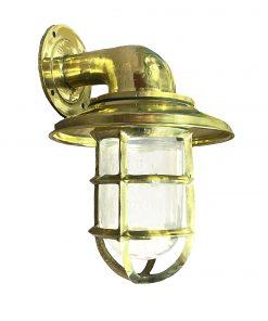 marine grade brass bulkhead light
