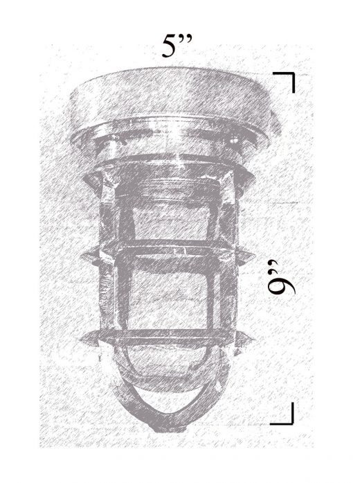 Nautical Flush Mount Diagram Shiplights (T-10F)